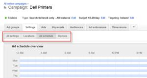 google-adwords-zaman-planlaması
