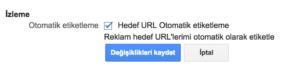 Google Adwords Otomatik Etiketleme