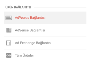 google analytics google adwords bağlama