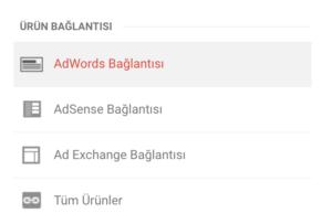google analytics google adwords bağlama